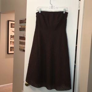 J. Crew chocolate brown strapless dress, 10P, NWOT